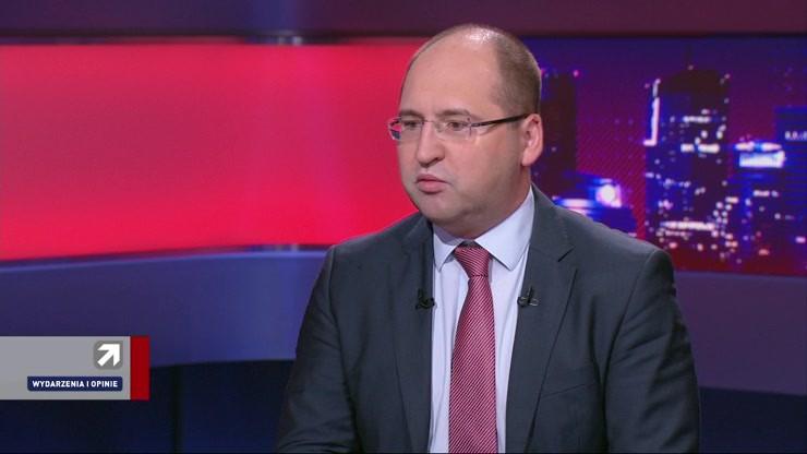 """Adam Bielan gościem programu """"Wydarzenia i Opinie"""" /Polsat News"""