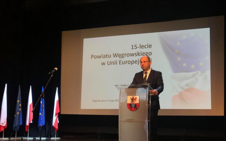 15-lecie Powiatu Węgrowskiego w Unii Europejskiej