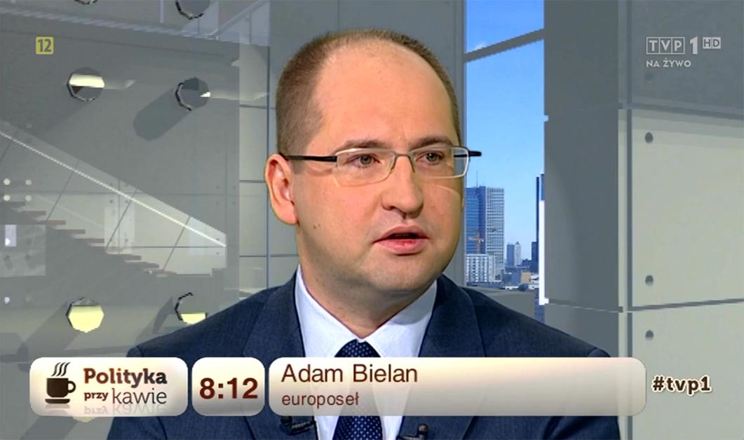 """Adam Bielan gościem programu """"Polityka przy kawie"""" w TVP1"""