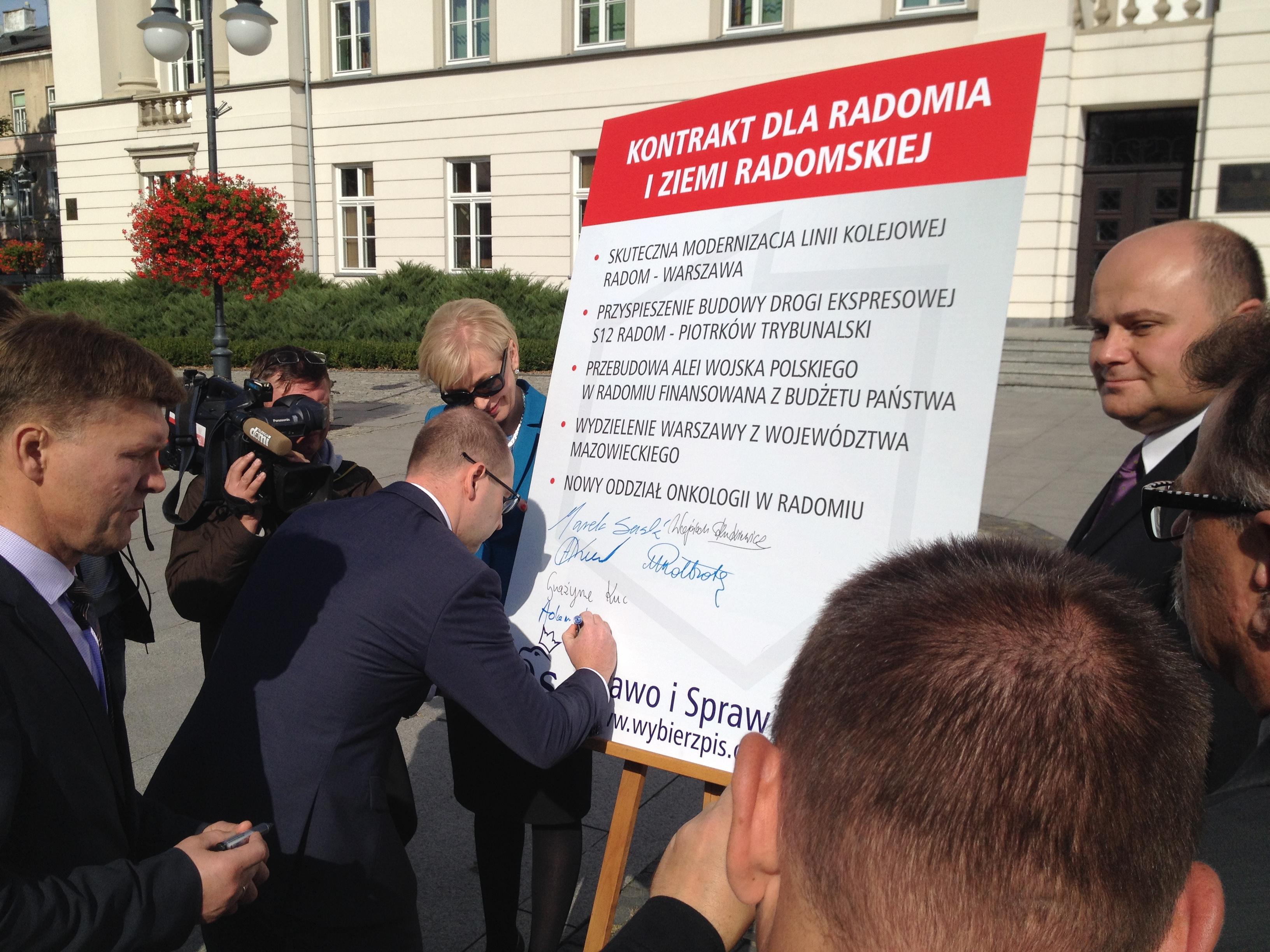 Kontrakt dla Radomia i ziemi radomskiej